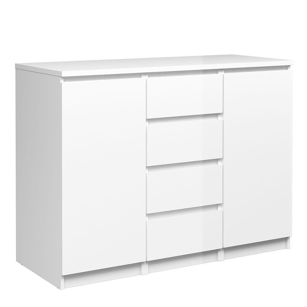 Enzo Sideboard - 4 Drawers 2 Doors in White High Gloss